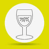 wine icon design Royalty Free Stock Images