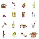 Wine Icon Flat Royalty Free Stock Image