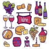 Wine Icon Set Stock Photo
