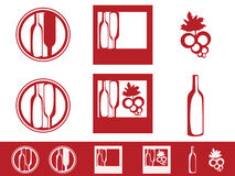 Wine Icon Set Stock Images
