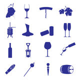 Wine icon set eps10 Stock Images