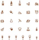Wine icon set Stock Photos