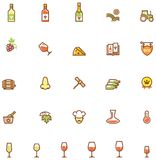 Wine icon set Royalty Free Stock Image