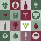 Wine. Icon set Stock Images