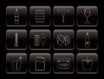 Wine Icons Stock Photography