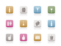 Wine Icons. Vector Icon Set royalty free illustration