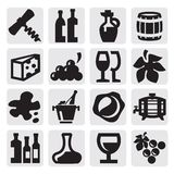 Wine icons Stock Image