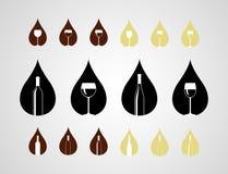 Wine Icons Stock Image