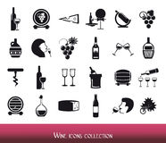 Wine icons collection Royalty Free Stock Photo