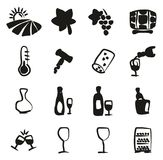Wine Icons Freehand Fill. This image is a vector illustration and can be scaled to any size without loss of resolution Royalty Free Stock Photo