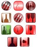 Wine icons. Illstration representing a set of icons about wine world Stock Images