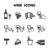 Wine icons Royalty Free Stock Photo
