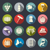 Wine icons Royalty Free Stock Photography