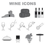 Wine icons Royalty Free Stock Image