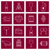 Wine icons set outline Stock Images