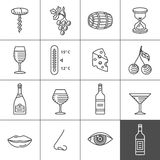 Wine icons set Royalty Free Stock Photography