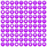 100 wine icons set purple. 100 wine icons set in purple circle isolated on white vector illustration vector illustration