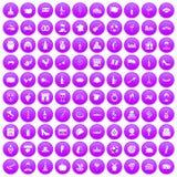 100 wine icons set purple. 100 wine icons set in purple circle isolated on white vector illustration Vector Illustration