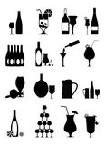 Wine Icons Set Stock Photography