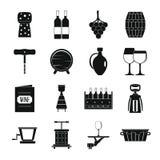 Wine icons set, simple style Stock Image