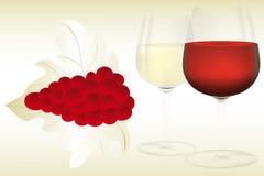 Wine illustration - Background Royalty Free Stock Photos