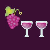 Wine illustration Royalty Free Stock Photos