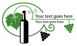 Wine illustration green black Stock Photos