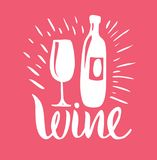 Wine vector illustration. Hand drawn isolated on background. royalty free illustration