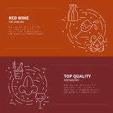 Wine Industry Banners Stock Photography