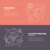 Wine Industry Banners Stock Photos