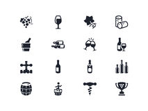 Wine industry icons. Lyra series royalty free stock images