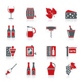 Wine industry objects icons Stock Images