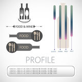 Wine info graphic Stock Photography