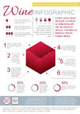 Wine Infographic Template Royalty Free Stock Image
