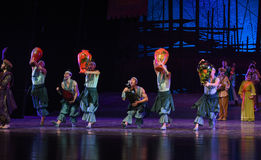 """The wine jar dance-Dance drama """"The Dream of Maritime Silk Road"""". Dance drama """"The Dream of Maritime Silk Road"""" centers on the plot of two Royalty Free Stock Photography"""