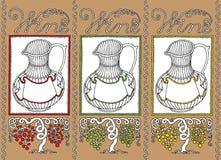 Wine jar wine list Stock Image