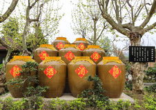 Wine jars in chengdu, china Royalty Free Stock Image