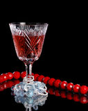 Wine and jewelry Royalty Free Stock Photos