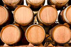 Wine keg barrels Royalty Free Stock Image