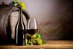 Wine with keg Royalty Free Stock Images