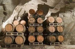 Wine Kegs Underground Royalty Free Stock Image
