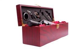 Wine kit. Isolated on white background stock photography