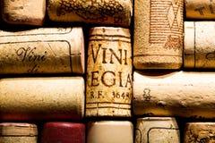 Wine korkar Fotografering för Bildbyråer
