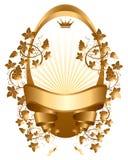 Wine label. Gold wine label,  image Royalty Free Stock Image