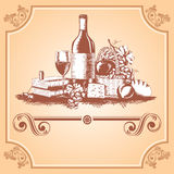Wine  label Royalty Free Stock Photography