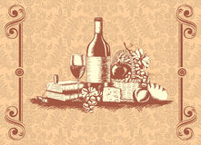 Wine  label Royalty Free Stock Image