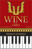 Wine label Royalty Free Stock Images