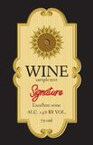 Wine label design Royalty Free Stock Image
