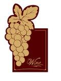 Wine label - gold vine Royalty Free Stock Photo
