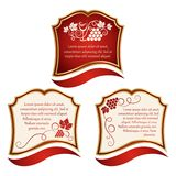 Wine label. Labels with grapes Royalty Free Stock Photography